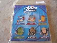 Disney Trading Pins Lot of 6 Brand New Avengers Set Captain America Hero