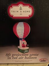 GEMMY NEW 8 FT PROJECTION SANTA HOT AIR BALLOON AIRBLOWN INFLATABLE TRIM A HOME