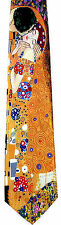 Ralph Marlin The Kiss Mens Neck Tie Art Necktie Gustav Klimt Artist Painting New