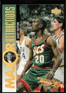 1995 upper deck #346 Gary Payton Electric Court GOLD SSP NM or Better