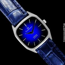 1977 OMEGA CONSTELLATION Mens Quartz Blue Dial Watch, Quick-Setting Hour - SS