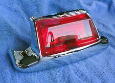Harley Fender Tip REAR RED Lens Chrome FLSTC FLT FLHR FLHT Models