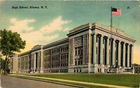 Vintage Postcard - Public High School Building Albany New York NY #3760