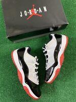 Nike Air Jordan 11 Retro Low 'Concord-Bred' Men's Size 10.5 White/Red AV2187-160