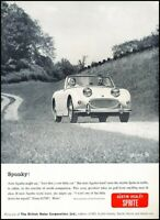 1961 Austin Healey Sprite Vintage Original Advertisement Print Art Car Ad J640A