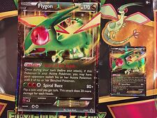 POKEMON XY FLYGON  EX (XY61) Regular size AND JUMBO size ultra rare HOLOS +BONUS