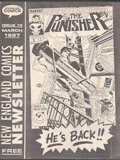 NEW ENGLAND COMICS NEWSLETTER # 19 1987 PUNISHER GI JOE ACTION FORCE SNAKE EYES