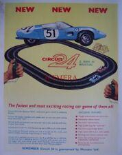 1962 Meccano 'CIRCUIT 24' Model Motor Racing Sets ADVERT #2 - Vintage Print Ad