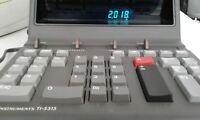 "TEXAS INSTRUMENTS TI-5315 ""PRINTER DISPLAY"" VINTAGE DESKTOP CALCULATOR CLOCK 80s"