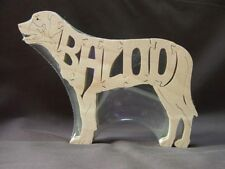 Custom Dog Cat or Horse Puzzle Your Name Choice  Wood Scroll Saw Toy Puzzle