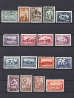 SPAIN 1930, Sc #433-448, E9, CV $90, Spanish-American Exh., architecture, MH