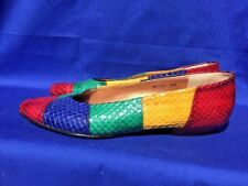 SALE @ ROS HOMMERSON Gay Lesbian Pride Lizard Ballet Flats Womens Shoes Size 8