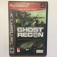 Tom Clancys Ghost Recon PS2 Greatest Hits Sony PlayStation 2 Shooter CIB Tested