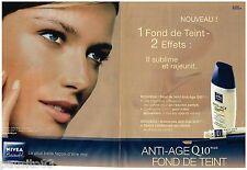 PUBLICITE ADVERTISING 105  2002  NIVEA   cosmétiques ANTI-AGE( 2p) FOND DE TEINT