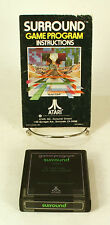 Atari 2600 game Surround With Instructions Tested and Working
