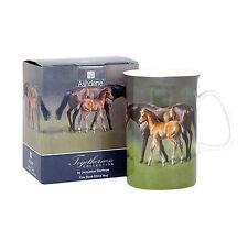Horse design Togetherness Mare & Foal Melamine Tray & Bone China Mug 2 Pieces