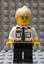 LEGO Female Girl Airline Pilot White Top with Wings & ID Badge Blond Hair