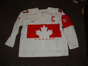 SIDNEY CROSBY #87 TEAM CANADA 2014 SOCCHI WHITE AUTHENTIC HOCKEY JERSEY 58/2XL