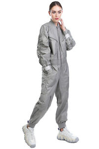 RRP €220 ADIDAS By STELLA MCCARTNEY Jumpsuit Size M Ruched Sleeves Zipped Cuffs