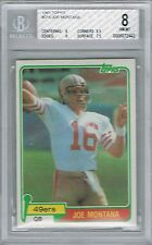 Joe Montana 49ers 1981 Topps #216 Rookie Card rC BGS 8 **STOCK PHOTO** QUANTITY
