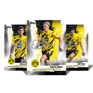 2020 Topps Borussia Dortmund 30 Card Set Collectors Tin Haaland Sancho Reyna