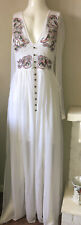 Frock and Frill Winona dress size 8 Embroidered Floral maxi dress w/sleeve