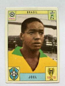 Original Panini Mexico 70 1970 Joel Brasil Brazil Unused. One Of The Rare 80