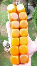 442.5 Grams Antique Butterscotch Bakelite Cube Beads Necklace Rosary.