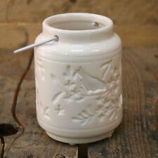 Handcrafted Ceramic Cut Out Bird Hanging Tealight Holder Lantern
