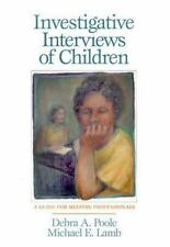 Investigative Interviews of Children by Poole and Lamb (2003, Paperback)