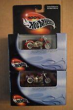 Hot Wheels 100% Black Box (2) Harley Davidson Fat Boys # 29709 - dated 2000