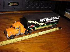 """1/80 7"""" Interstate Batteries Racing Matchbox Peterbilt Semi Low Bed Trailer"""