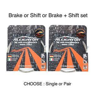 Alligator Shift or Brake Cable Superior Shine Slick Stainless fit Shimano Sram