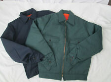 Mens Jacket Coat IKE Work lined Blue Green Small Medium Large XL 2X 3X 4X NEW