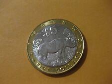 2002 Zimbabwe Coin  5 Dollars  RHINOCEROS  super nice high grade coin