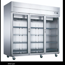 New Dukers D83Ar-Gs3 Top Mount Glass 3-Door Commercial Reach-in Refrigerator