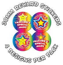 144 X Teacher's Premio especial - 30mm Niños recompensa Stickers-las escuelas, profesores