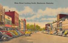 Henderson Kentucky south on Main Street business area antique pc Y12424