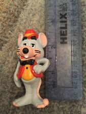 1983 Vintage Chuck E Cheese Figurine Showbiz Pizza Time Mouse 2.5 in