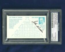 John Wooden Autographed Business Card UCLA Bruins Basketball Coach PSA SLAB