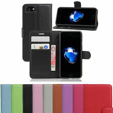 Magntic Luxury Apple iPhone 7 SE 5C 5S 6S 8 Plus Flip Wallet Leather Case Cover