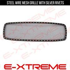Fits DODGE RAM 1500 02-05  UPPER BLACK STEEL MESH GRILLE W/ SILVER RIVETS