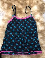 Yamamay BLACK Pink green Camisole Top sleepwear nightwear size M  it 3