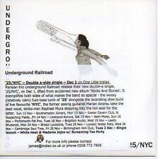 (P56) Underground Railroad, 25 / NYC - DJ CD