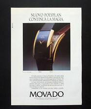 F130 - Advertising Pubblicità - 1992 - MOVADO POLYPLAN , CONTINUA LA MAGIA