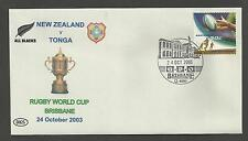 AUSTRALIA 2003 RUGBY WORLD CUP Souvenir Cover NEW ZEALAND v TONGA  24/10/2003