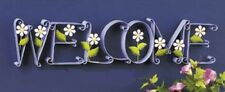 "Blooming ""Welcome"" Sign Home Decor new in box Purple sale Interior See Pics>>>>>"