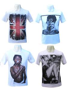 Mens T-shirt Funny Vintage Retro Lil Wayne Sexy Blond Finger Wiz Khalifa Tshirt