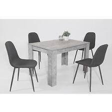 """Essgruppe Esstischset """"Tijuana"""" 5-tlg. Tisch Beton + 4 Stühle Webstoff anthrazit"""