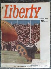 Liberty Magazine  October 1948   Kick Off Time Cover  GREAT VINTAGE ADS